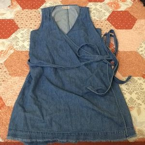 Madewell wrap around denim dress
